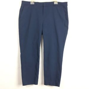 OLD NAVY MID-RISE BLUE HARPER ANKLE PANTS